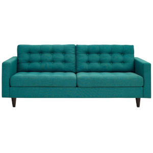 Whittier Teal Upholstered Fabric Sofa