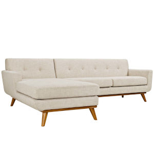 Whittier Beige Left-Facing Sectional