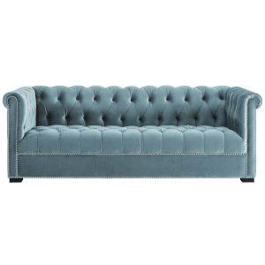 Vivian Sea Blue Performance Velvet Sofa