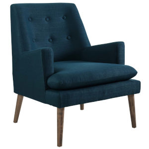 Whittier Azure Upholstered Lounge Chair