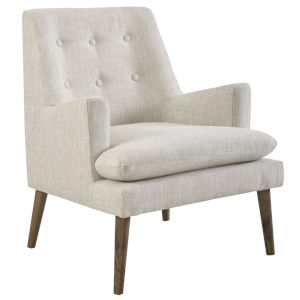 Whittier Beige Upholstered Lounge Chair