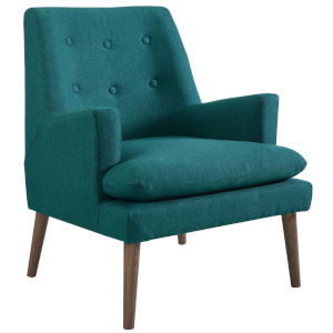 Whittier Teal Upholstered Lounge Chair