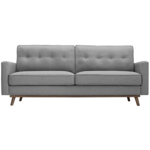 Loring Light Gray Upholstered Fabric Sofa
