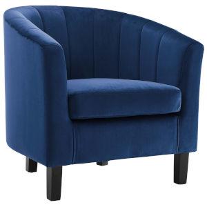 Cooper Navy Channel Tufted Performance Velvet Armchair