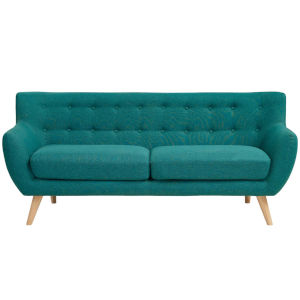 Nicollet Teal Upholstered Fabric Sofa