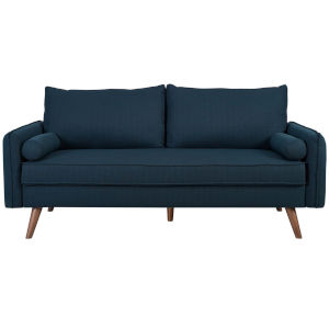Uptown Azure Upholstered Fabric Sofa