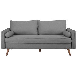 Uptown Light Gray Upholstered Fabric Sofa