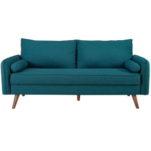Uptown Teal Upholstered Fabric Sofa