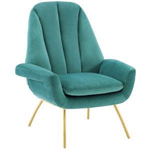 Vivian Teal Accent Performance Velvet Armchair