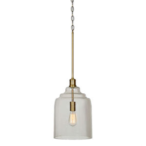 Elle Antique Brass One-Light Pendant
