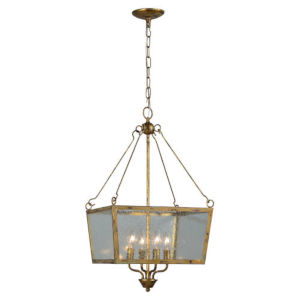 Kate Antique Gold Four-Light Chandelier