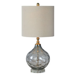 Anita Gray and Gold One-Light Table Lamp