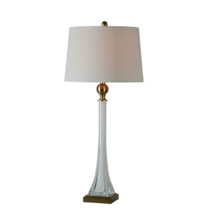 Anita Milky White and Antique Brass One-Light Table Lamp