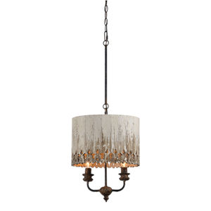 Olivia Rustic Black And Cottage White Two-Light Pendant