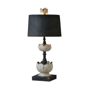 Hazel Cottage White and Black One-Light Table Lamp