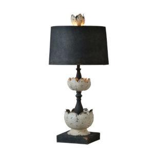 Hazel Cottage White and Black One-Light Table Lamp
