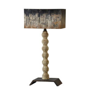 Hazel Weathered Wood and Black 35-Inch One-Light Table Lamp