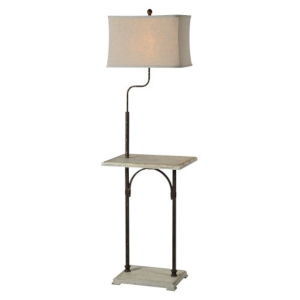 Hazel Cottage White One-Light Floor Lamp