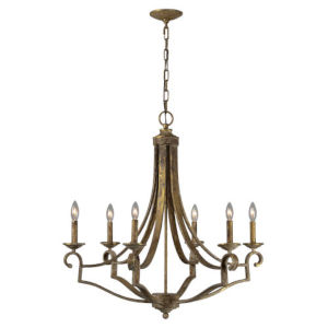 Iris Old Gold Six-Light Chandelier