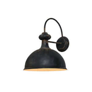 Hana Antique Black One-Light Wall Sconce