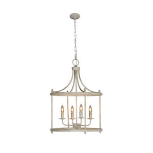 Sophia Cottage White Four-Light Chandelier