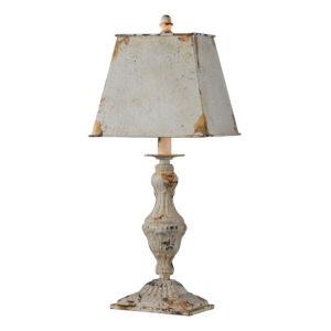 Hazel Antique White One-Light Table Lamp