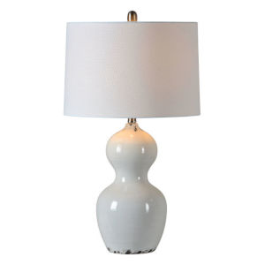Hazel Rustic White One-Light Table Lamp