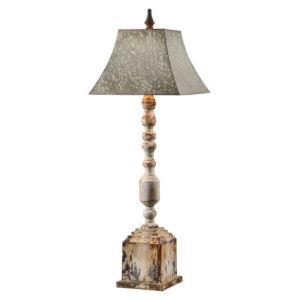 Hazel Galvanized and Antique White One-Light Buffet Lamp