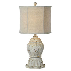 Hazel Antique White 27-Inch One-Light Table Lamp Set of Two