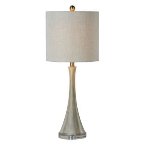 Hazel Weathered Light Gray One-Light Table Lamp