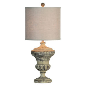 Hazel Distressed Cream 32-Inch One-Light Table Lamp
