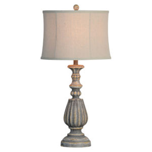 Hazel Distressed Rich Gray One-Light Table Lamp