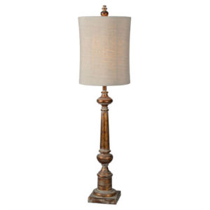 Hazel Aged Copper One-Light Buffet Lamp