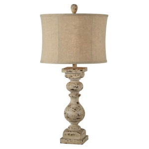 Hazel Distressed Cream One-Light Table Lamp