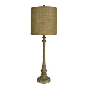 Hazel Wood Grain One-Light Buffet Lamp