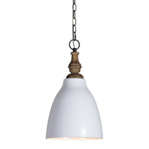 Iris White One-Light Pendant