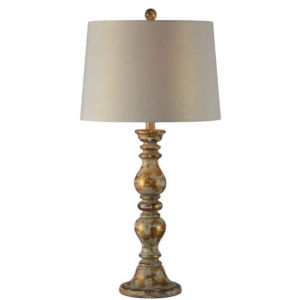 Hazel Distressed Gold and Cream One-Light Buffet Lamp