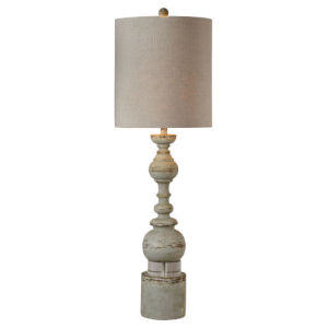 Hazel Distressed Blue and Gray One-Light Buffet Lamp