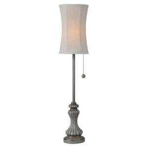 Hazel Antique Blue One-Light Buffet Lamp