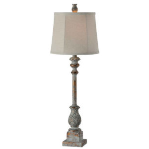 Hazel Blue and Gold 32-Inch One-Light Buffet Lamp