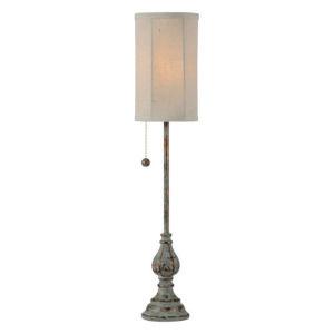 Hazel Blue and Gold One-Light Buffet Lamp