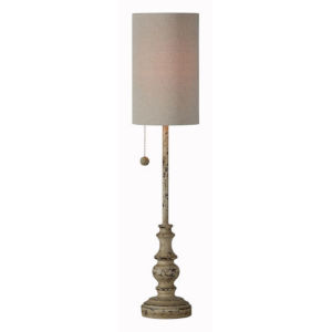 Hazel Distressed Brown 28-Inch One-Light Buffet Lamp