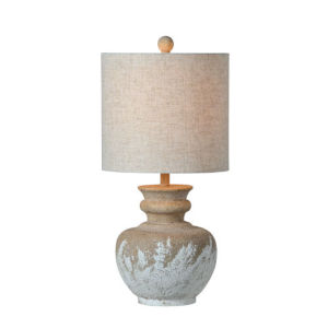 Charlotte Sand and Washed White One-Light Table Lamp