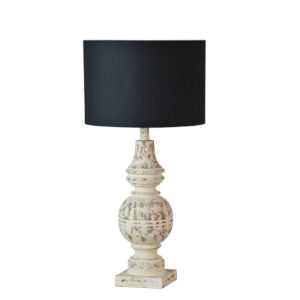 Charlotte Cottage White and Black One-Light Table Lamp