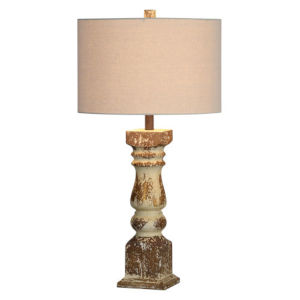 Charlotte Distressed White 30-Inch One-Light Table Lamp