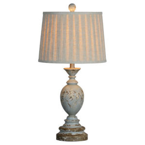 Charlotte Rustic Blue 28-Inch One-Light Table Lamp