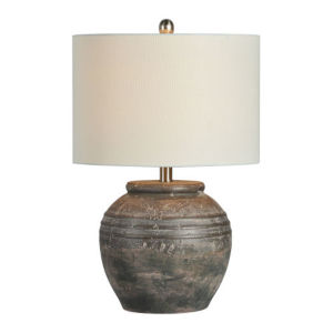Charlotte Brown Pottery One-Light Table Lamp