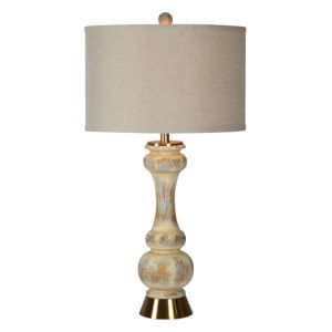 Charlotte Antique Blue and Cream One-Light Table Lamp