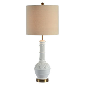 Charlotte Matte White One-Light Table Lamp