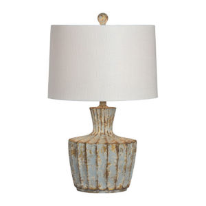Charlotte Rustic Blue and White One-Light Table Lamp